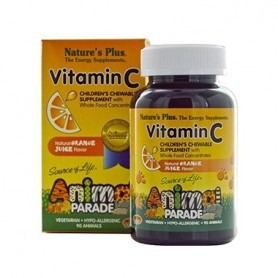 NATURES PLUS ANIMAL PARADE VITAMIN C SUPLEMENTO NUTRICIONAL 90 ANIMALES