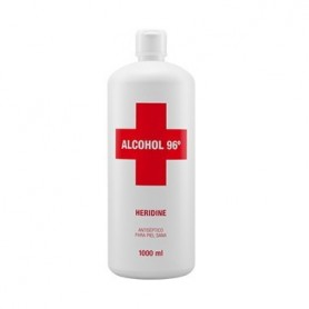 INTERAPOTHEK ALCOHOL 96º HERIDINE ANTISEPTICO 1000 ML.