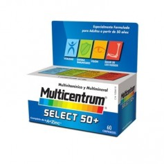 MULTICENTRUM SELECT 50 + MULTIVITAMINICO 90 COMPRIMIDOS