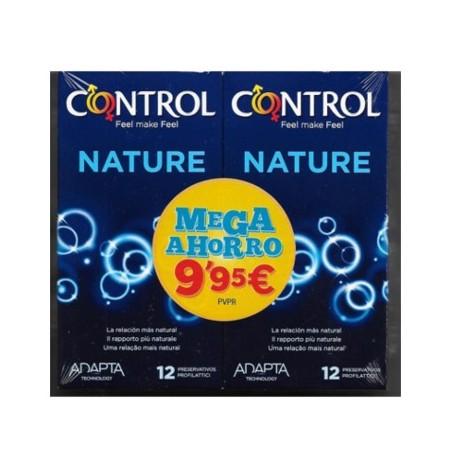 CONTROL PRESERVATIVOS ADAPTA NATURE PACK MEGA AHORRO 2X12 UNIDADES