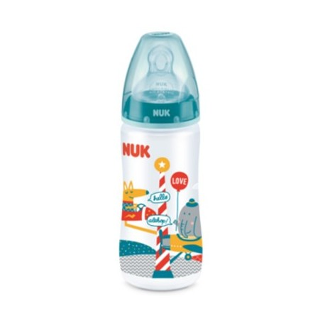 BIBERON NUK SILICONA FIRST CHOICE T1 0-6 MESES 300 ML