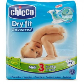 CHICCO PAÑAL DRY FIT ADVANCED MIDI TALLA 3 4-9KG 21 PAÑALES