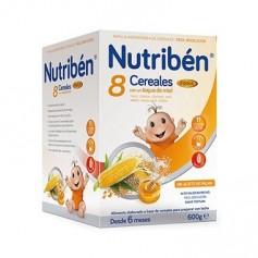 NUTRIBEN PAPILLA 8 CEREALES Y MIEL FIBRA 600 GR.