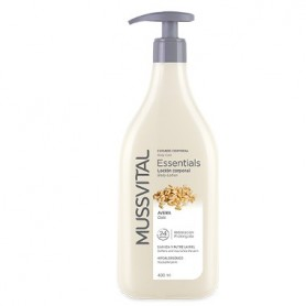 MUSSVITAL ESSENTIALS BODY MILK LECHE CORPORAL DE AVENA 400 ML