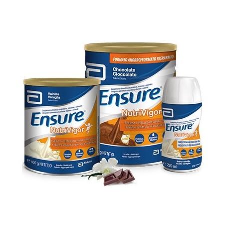 ENSURE NUTRIVIGOR SUPLEMENTO NUTRICIONAL DE PROTEINAS Y HMB VAINILLA 4 UNIDADES X 220 ML