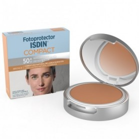 FOTOPROTECTOR ISDIN COMPACT SPF 50 MAQUILLAJE COMPACTO OIL FREE BRONZE