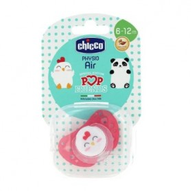 CHUPETE CHICCO PHYSIO AIR POP FRIENDS 6-12 MESES SILICONA