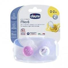 CHUPE CHICCO MICRO SILICONA ROSA 0-2M