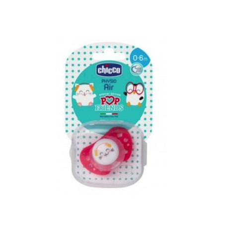 CHUPETE CHICCO PHYSIO AIR POP FRIENDS 0-6 MESES
