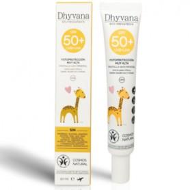 DHYVANA ECO PEDIATRICS FOTOPROTECTOR SPF50 PLUS PANTALLA 100% MINERAL 50 ML
