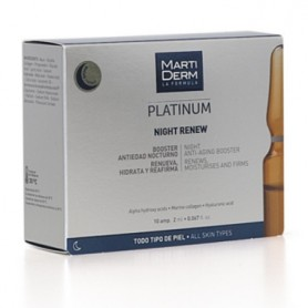 MARTIDERM PLATINUM NIGHT RENEW BOOSTER ANTIEDAD NOCTURNO 10 AMPOLLAS