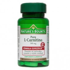 NATURES BOUNTY L-CARNITINA 500 MG 30 COMPRIMIDOS