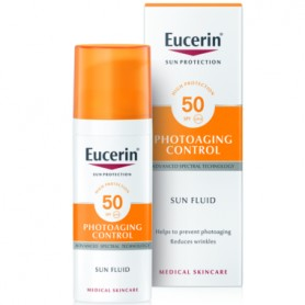 EUCERIN SUN FLUID ANTI AGE PHOTOAGING CONTROL PROTECTOR SOLAR FPS 50 50 ML