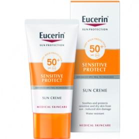 EUCERIN SUN CREME SENSITIVE PROTECT PROTECTOR SOLAR FACIAL PIEL SECA CREMA FPS 50+ 50 ML