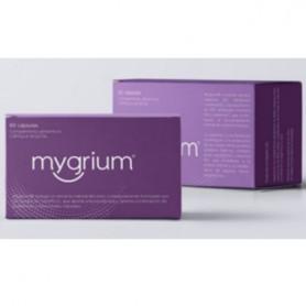 MYGRIUM COMPLEMENTO ALIMENTICIO QUE AYUDA A ALIVIAR LA MIGRAÑA 60 CAPSULAS