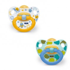 CHUPETE NUK LATEX HAPPY KIDS T3 18-36 MESES 2 UNIDADES