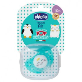 CHUPETE CHICCO PHYSIO AIR POP FRIENDS 12M+ SILICONA 1 UNIDAD