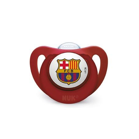 CHUPETE NUK SILICONA FC BARCELONA T3 18-36 MESES 1 UNIDAD