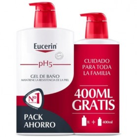 EUCERIN PH 5 GEL DE BAÑO HIDRATANTE 1000 ML+400 ML