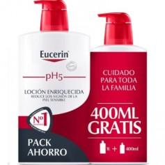 EUCERIN PH-5 EUCERIN LOCION HIDRATANTE ENRIQUECIDA PIEL MUY SECA 1000 ML+400 ML