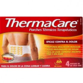 THERMACARE PARCHES LUMBAR-CADERA 4 PARCHES TERMICOS