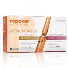 REPAVAR REVITALIZANTE C 5,5% 30 AMPOLLAS METAGLICANOS ANTIAGE&CELL RENEW