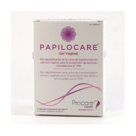 PAPILOCARE GEL VAGINAL 7 CANULAS DE 5 ML