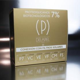 DELAPIEL AMPOLLAS FACIALES CONEXION CON PROTEOGLICANOS 7% Y FILTROS SOLARES 15 AMPOLLAS