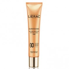 LIERAC SUNISSIME SPF30 FLUIDO PROTECTOR SOLAR ANTI EDAD GLOBAL BB COLOR DORADO 40 ML