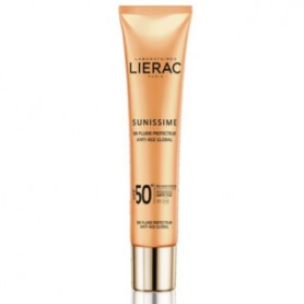 LIERAC SUNISSIME FLUIDO PROTECTOR SOLAR BB ANTI EDAD GLOBAL SPF50 COLOR DORADO 40 ML