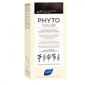 PHYTO PHYTOCOLOR TINTE NATURAL 4.77 CASTAÑO MARRON INTENSO