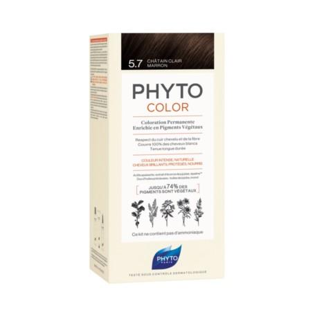 PHYTO PHYTOCOLOR TINTE NATURAL 5.7 CASTAÑO MARRON