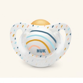 CHUPETE NUK GENIUS COLOR LATEX T2 6-18 MESES 1 UNIDAD