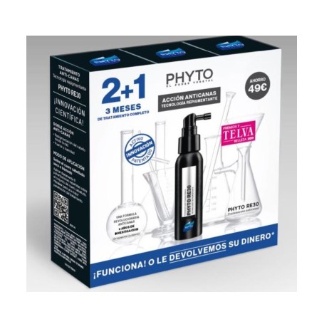 PHYTO RE 30 TRATAMIENTO ANTICANAS PACK TRES MESES 3X50 ML