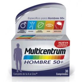 MULTICENTRUM HOMBRE 50 + MULTIVITAMINICO 30 COMPRIMIDOS