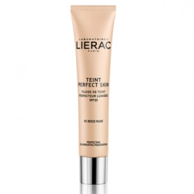 LIERAC TEINT PERFECT SKIN FLUIDO CON COLOR 02 NUDE BEIGE SPF20 30 ML