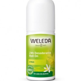 WELEDA DUPLO DESODORANTE CITRUS 24 H SIN ALUMINIO ROLL ON 2X50 ML