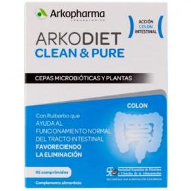 ARKOPHARMA ARKODIET CLEAN&PURE PLANTAS Y CEPAS MICROBIOTICAS 45 COMPRIMIDOS