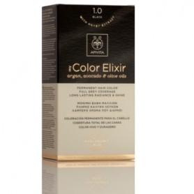 APIVITA COLOR ELIXIR TINTE PERMANENTE NATURAL 1.0 BLACK NEGRO