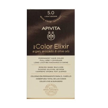 APIVITA TINTE PERMANENTE NATURAL 5.0 CASTAÑO CLARO LIGHT BROWN