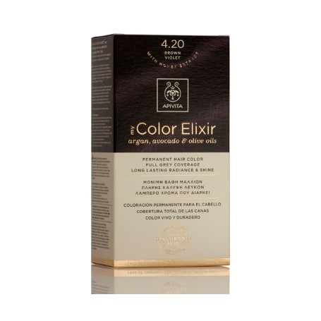 APIVITA COLOR ELIXIR TINTE PERMANENTE NATURAL 4.20 CASTAÑO VIOLETA BROWN VIOLET