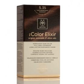 APIVITA COLOR ELIXIR TINTE NATURAL PERMANENTE 5.35 LIGHT BROWN GOLD MAHOGANY