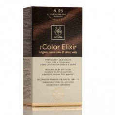 APIVITA COLOR ELIXIR TINTE NATURAL PERMANENTE 5.35 LIGHT BROWN GOLD MAHOGANY