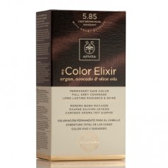 APIVITA COLOR ELIXIR TINTE NATURAL PERMANENTE 5.85 LIGHT BROWN PEARL MAHOGANY