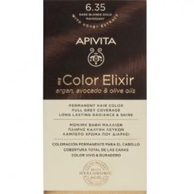 APIVITA COLOR ELIXIR TINTE PERMANENTE NATURAL 6.35 DARK BLONDE GOLD MAHOGANY