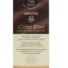 APIVITA COLOR ELIXIR TINTE PERMANENTE NATURAL 7.35 BLONDE GOLD MAHOGANY