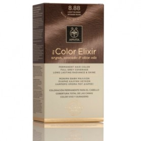 APIVITA COLOR ELIXIR TINTE PERMANENTE NATURAL 8.88 RUBIO CLARO INTENSO PERLADO LIGHT BLONDE INTENSE PEARL