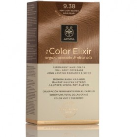 APIVITA COLOR ELIXIR TINTE PERMANENTE NATURAL 9.38 RUBIO MUY CLARO PERLADO VERY LIGHT GOLD PEARL