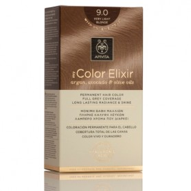 APIVITA COLOR ELIXIR TINTE PERMANENTE NATURAL 9 RUBIO MUY CLARO VERY LIGHT BLONDE