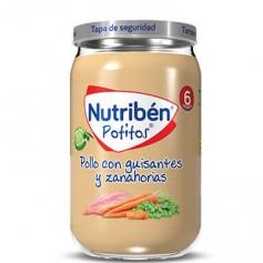 NUTRIBEN POTITO DE POLLO CON GUISANTES Y ZANAHORIAS 235 G